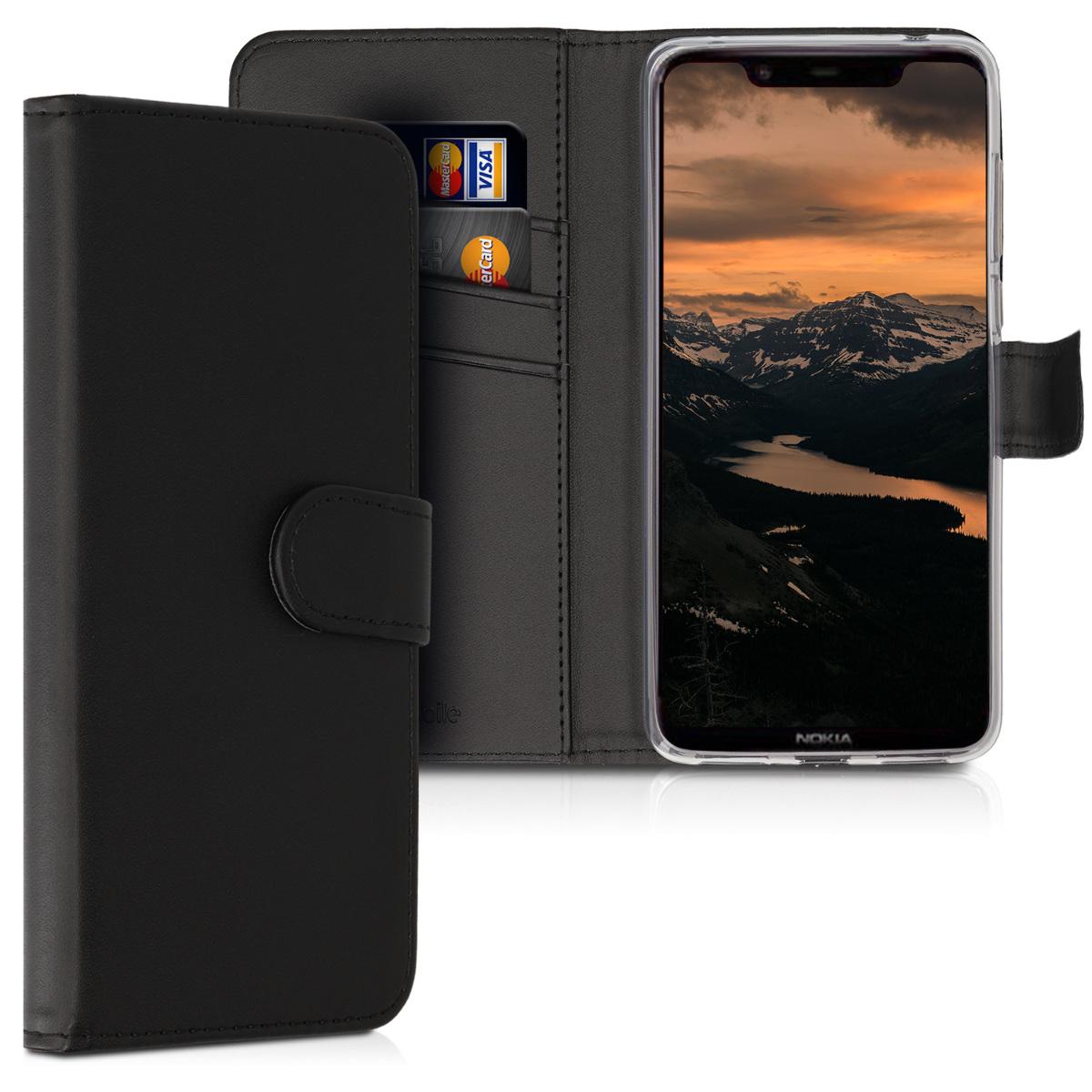 KW Θήκη - Πορτοφόλι Nokia 8.1 - Black (47175.01)