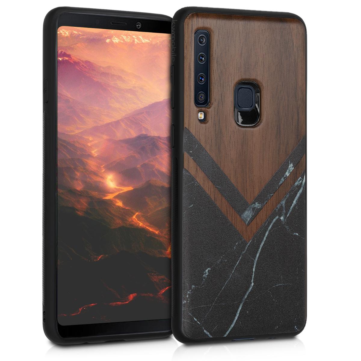 KW Σκληρή Ξύλινη Θήκη Samsung Galaxy A9 2018 - Wood and Marble (47241.03)