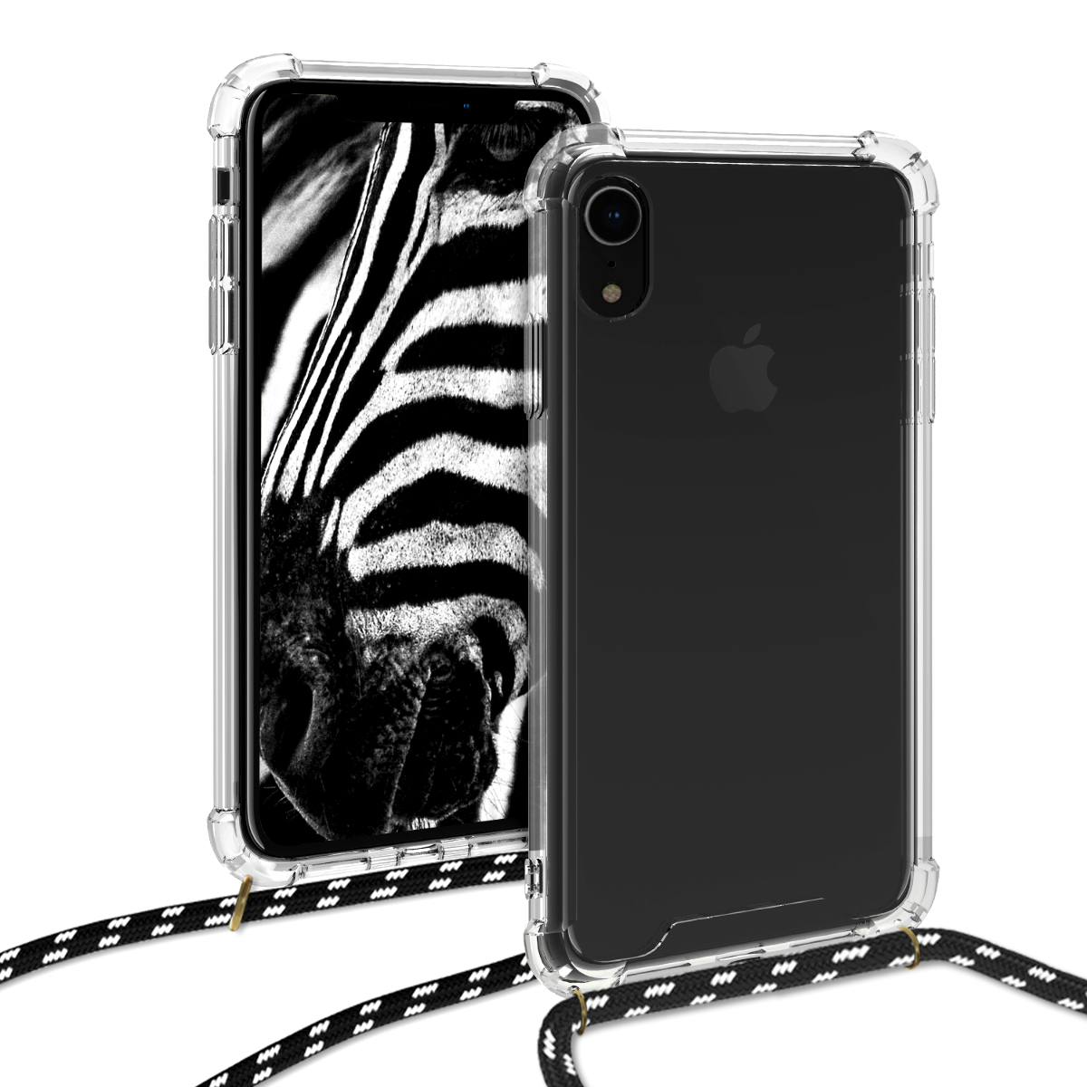 KW Θήκη Σιλικόνης με Λουράκι Apple iPhone XR - Transparent (47249.01)