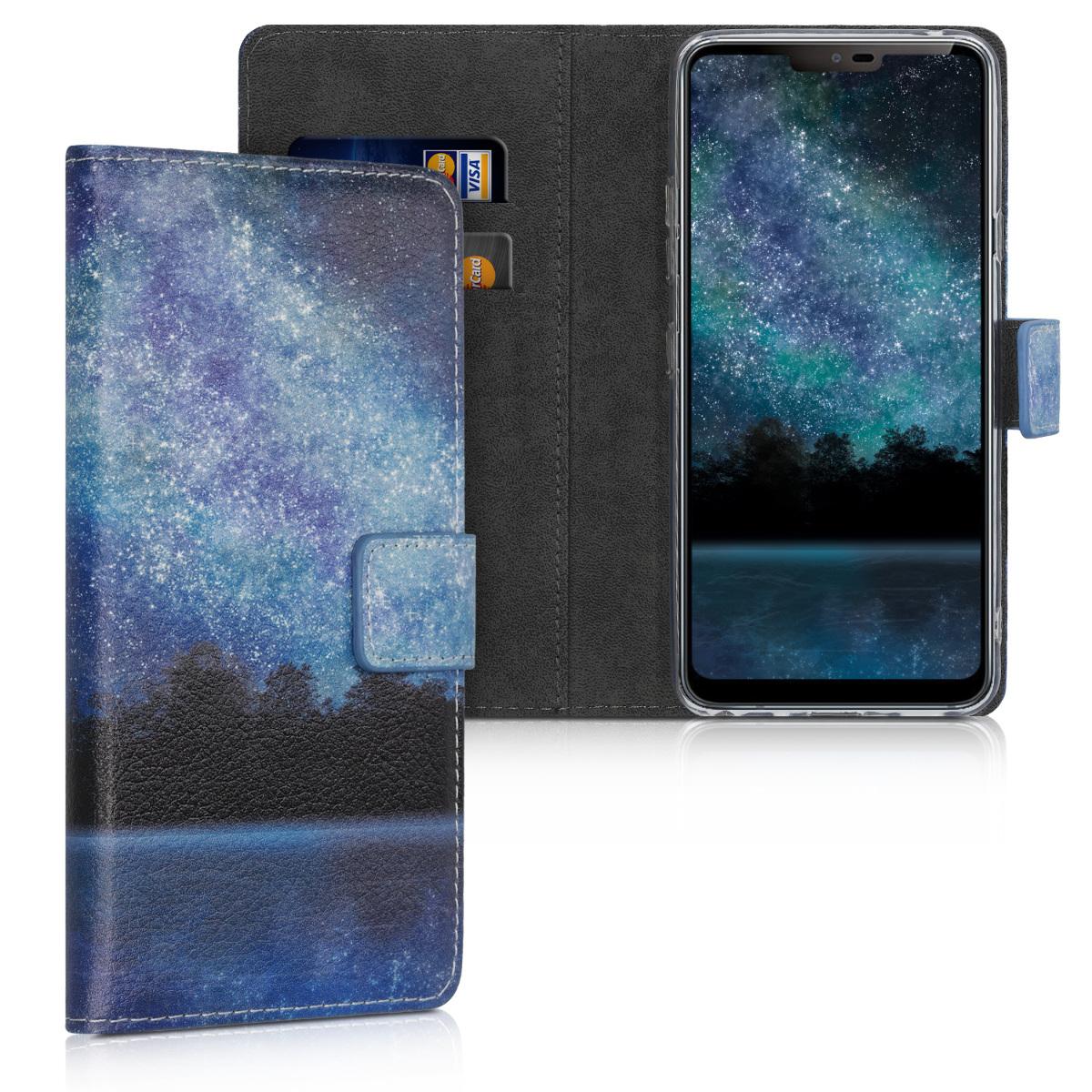 KW Θήκη - Πορτοφόλι LG G7 ThinQ - Blue / Black (47345.09)