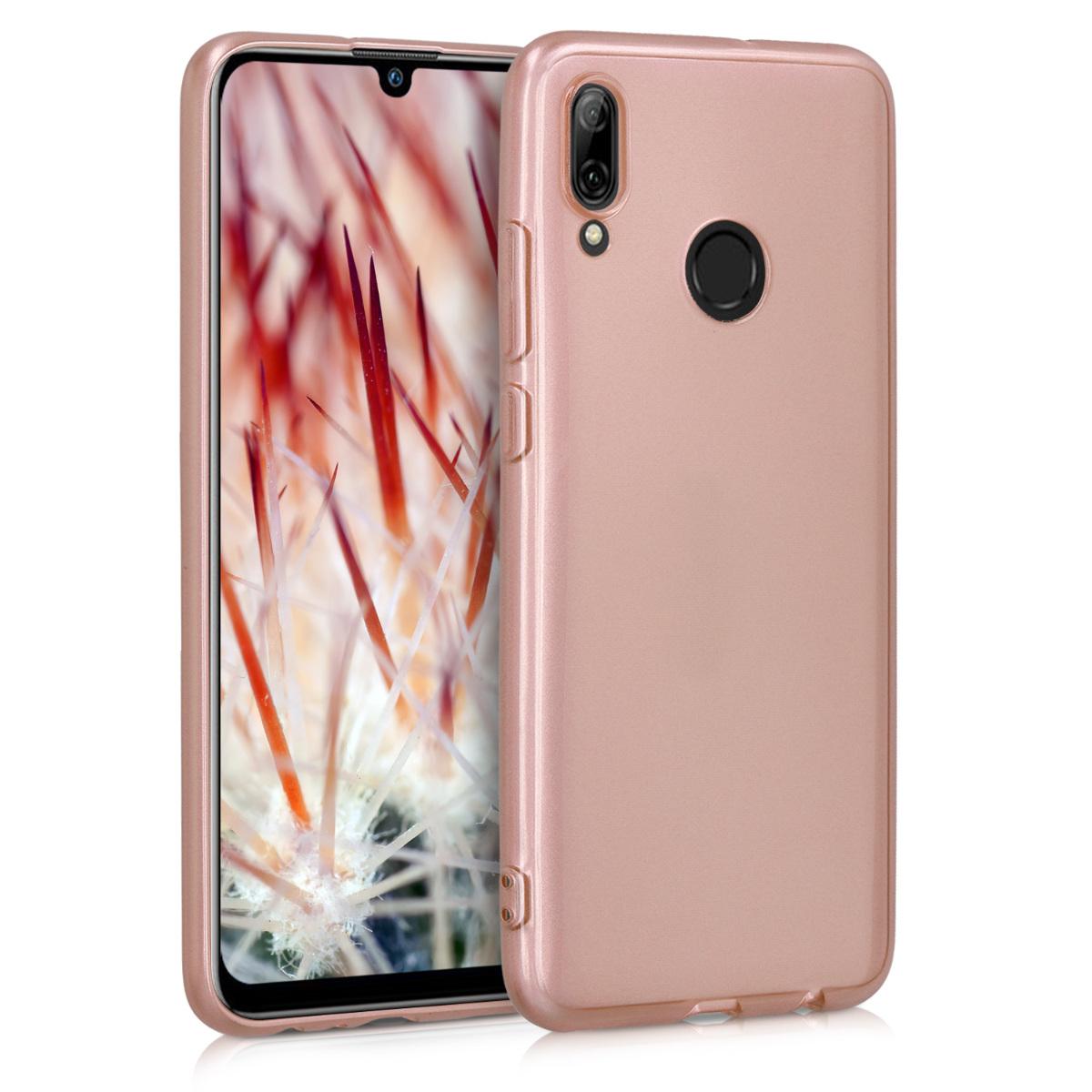 KW Θήκη Σιλικόνης Huawei P Smart (2019) - Soft Flexible Shock Absorbent  - Rose Gold High Gloss (47386.93)