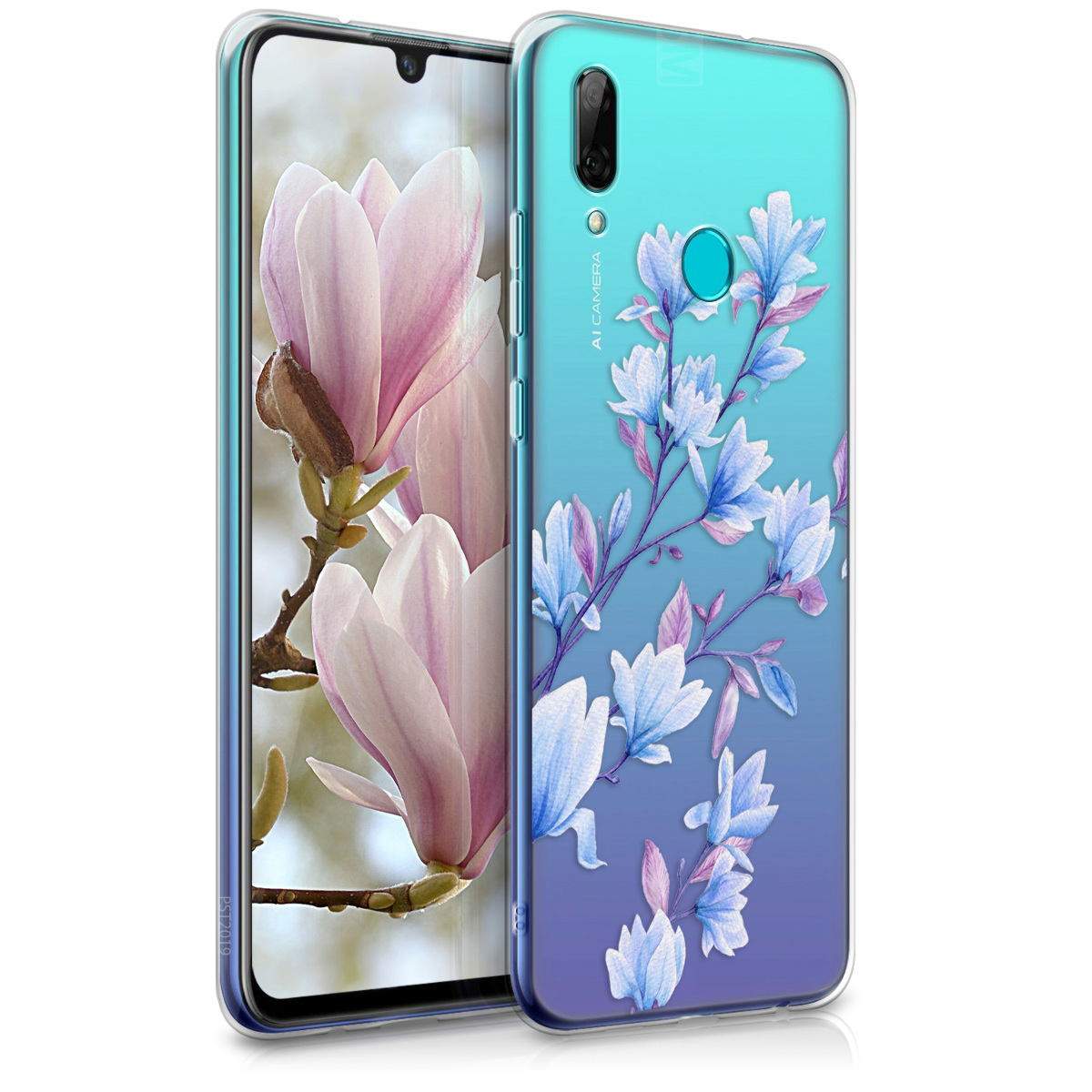KW Θήκη Σιλικόνης Huawei P Smart 2019 - Blue / Violet / Transparent (47388.15)