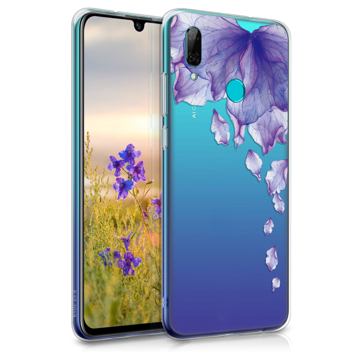 KW Θήκη Σιλικόνης Huawei P Smart 2019 - Dark Blue / Dark Pink / Transparent (47388.36)