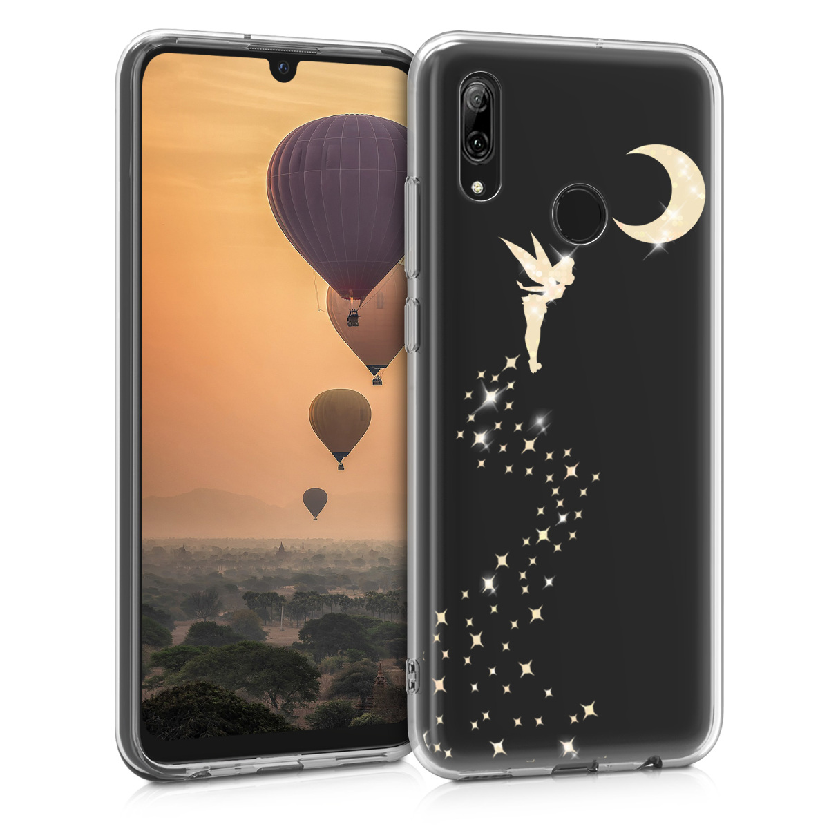 KW Θήκη Σιλικόνης Huawei P Smart 2019 - Gold / Transparent (47389.20)