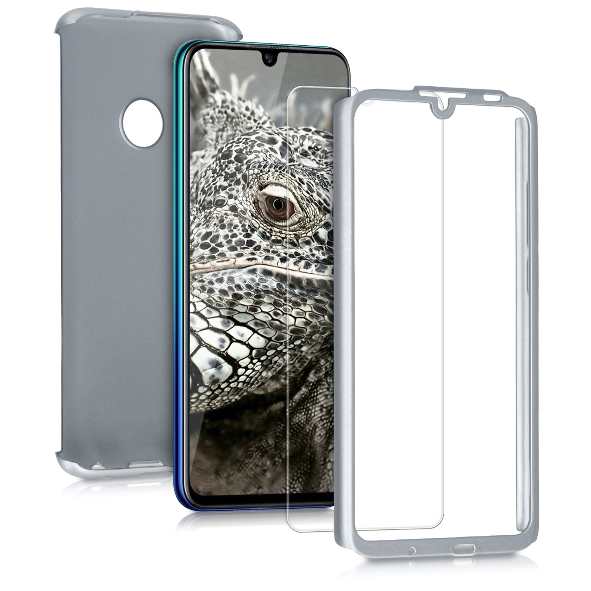 KW Θήκη Full Body Huawei P Smart 2019 & Tempered Glass - Metallic Silver (47391.67)