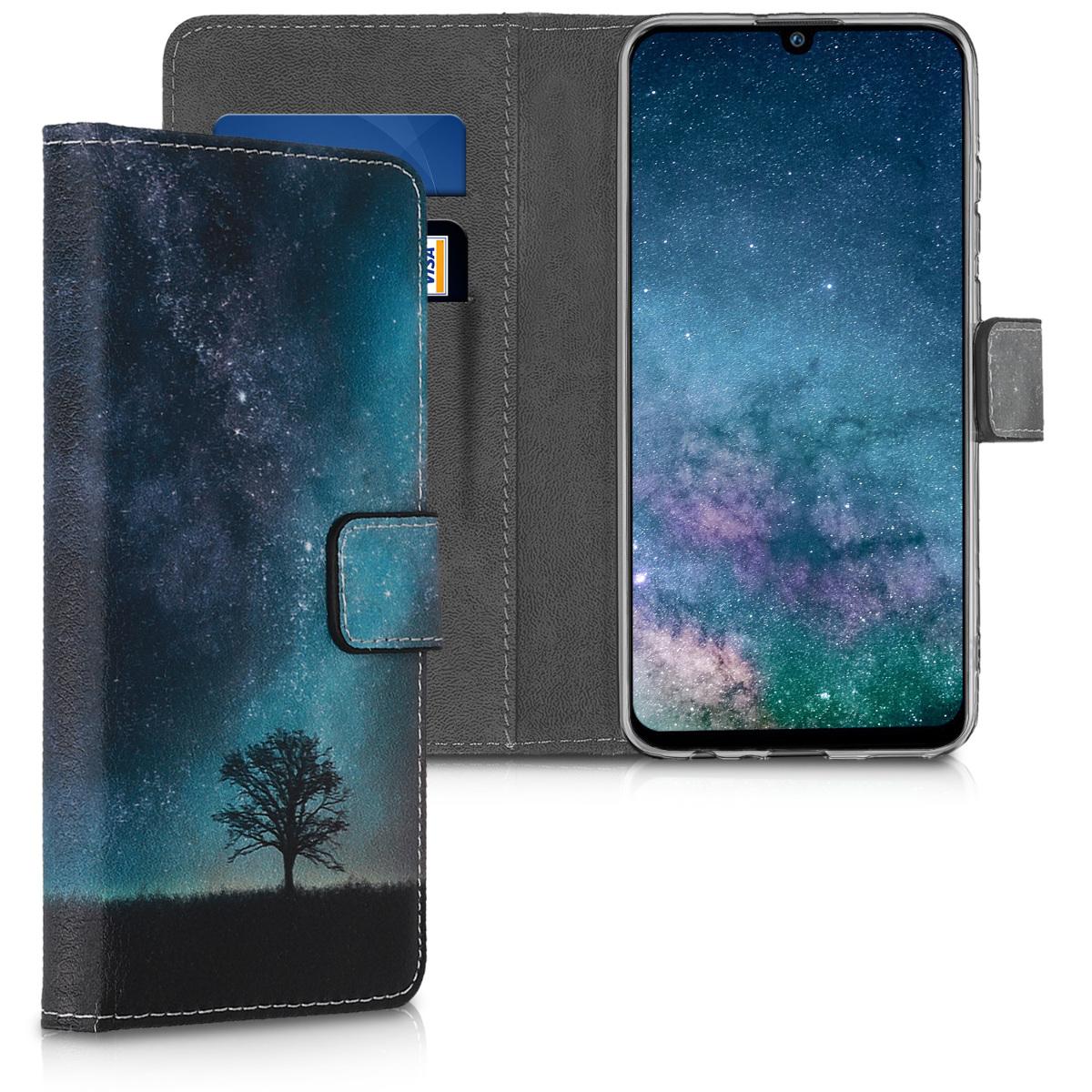 KW Θήκη - Πορτοφόλι Huawei P Smart 2019 - Galaxy Tree (47395.02)