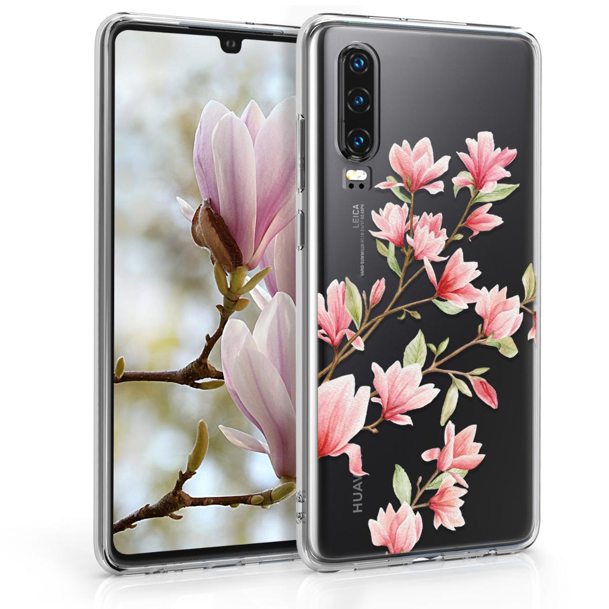 KW Θήκη Σιλικόνης Huawei P30 -  Light Pink / White / Transparent (47412.04)