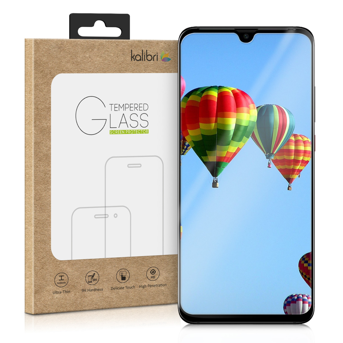 Kalibri Tempered Glass - Fullface Αντιχαρακτικό Γυαλί Οθόνης Huawei P30 Pro (47418.01)