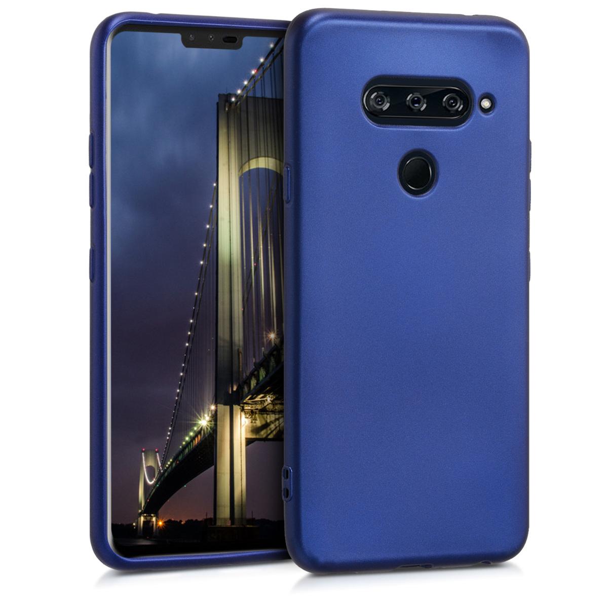KW Θήκη Σιλικόνης LG V40 ThinQ - Metallic Blue (47437.64)