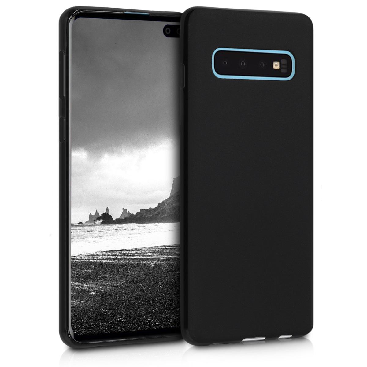 KW Θήκη Σιλικόνης Samsung Galaxy S10 - Black Matte (47447.47)