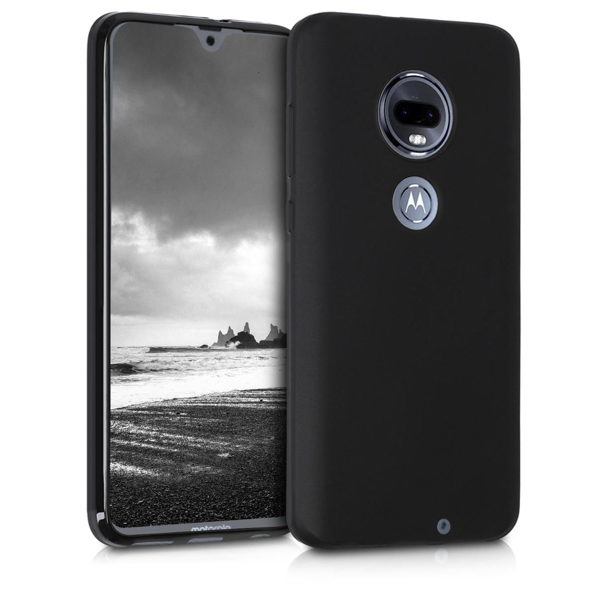 KW Θήκη Σιλικόνης Motorola Moto G7 - Black Matte (47484.47)