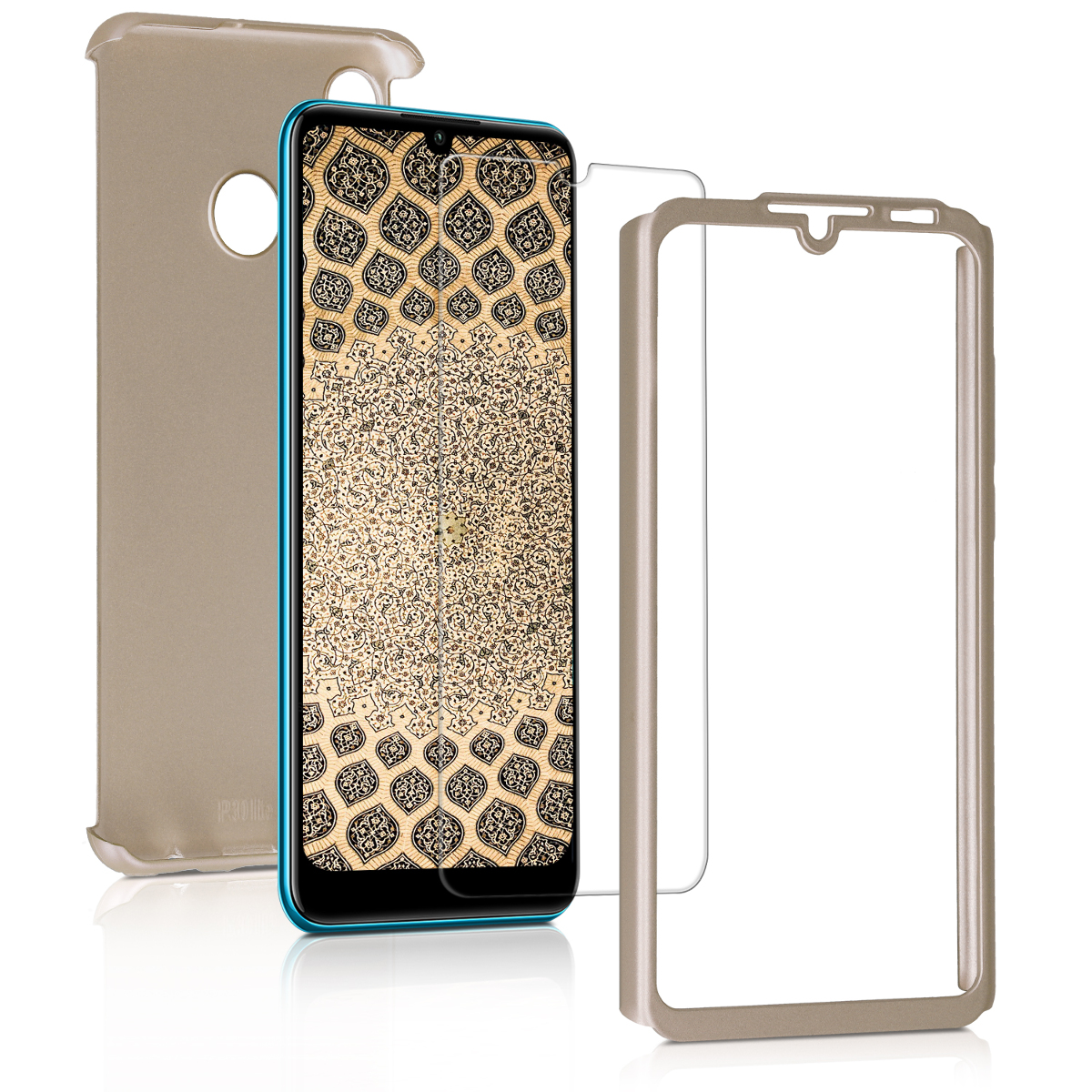 KW Θήκη Full Body Huawei P30 Lite & Tempered Glass - Metallic Gold (47508.66)