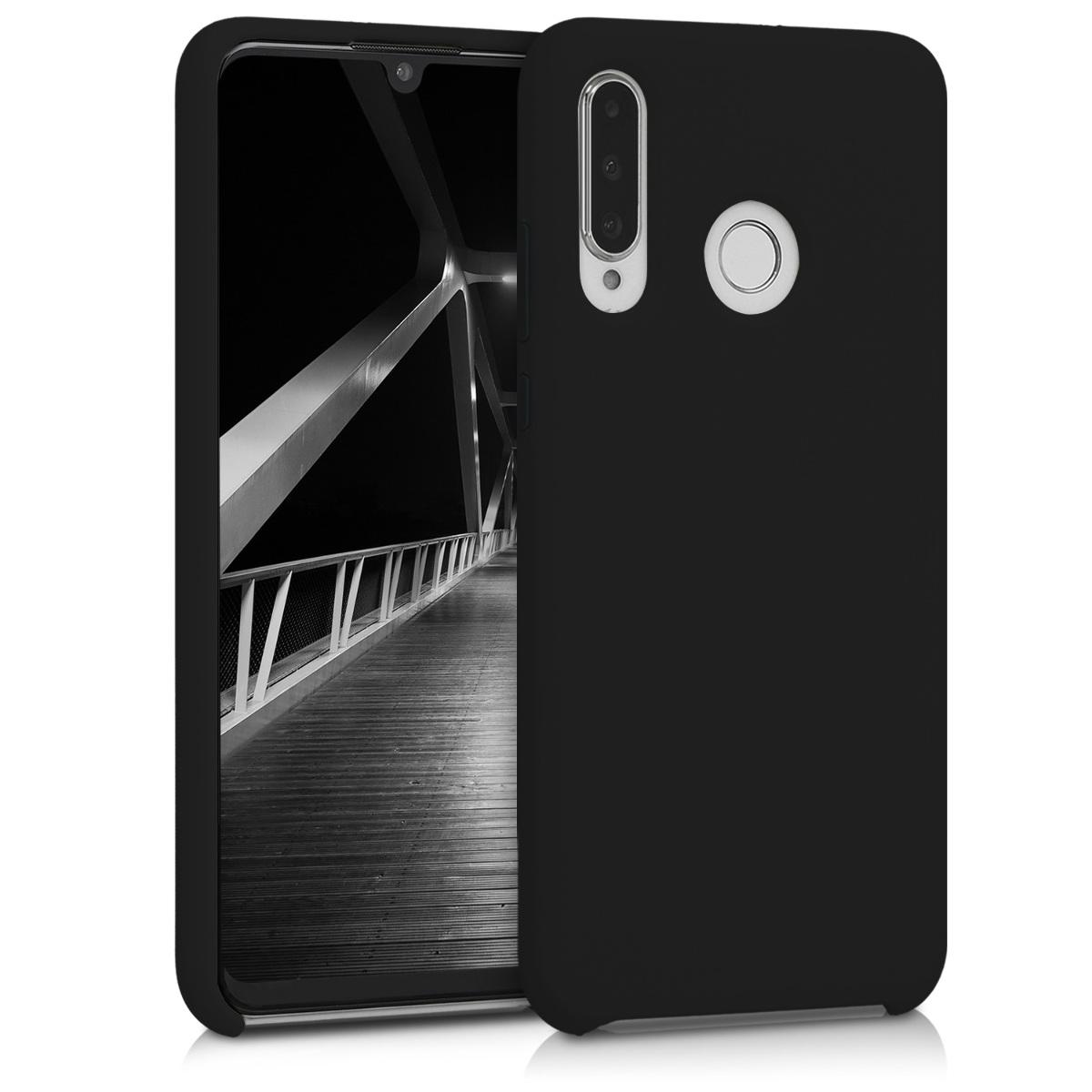 KW Θήκη Σιλικόνης Huawei P30 Lite - Soft Flexible Rubber - Black Matte (47510.47)