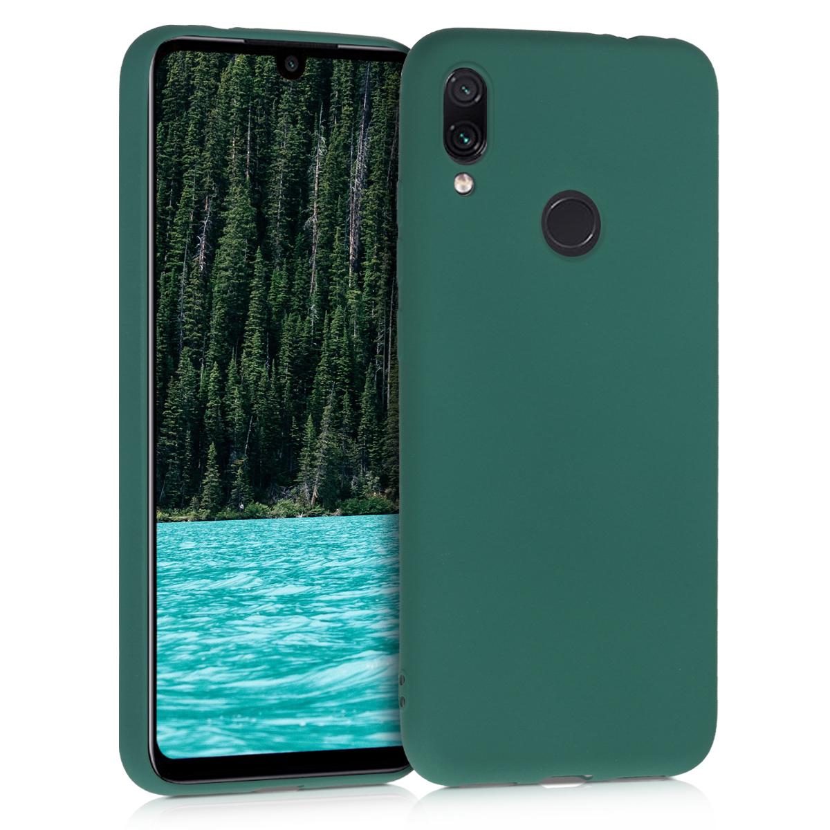 KW Θήκη Σιλικόνης Xiaomi Redmi Note 7 / Note 7 Pro - Dark Green (47570.170)