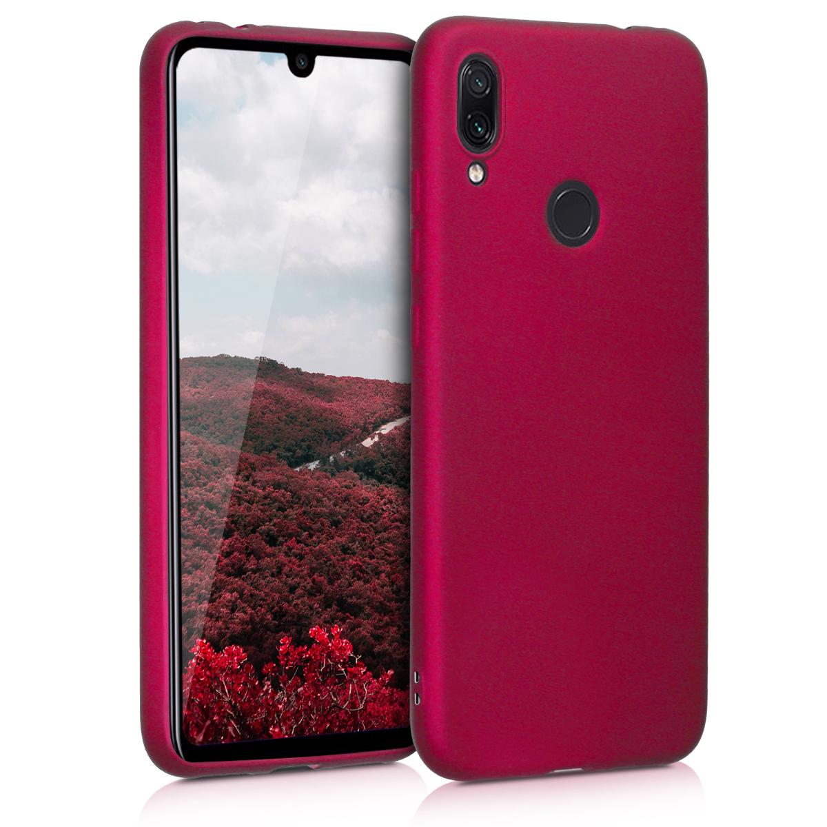 KW Θήκη Σιλικόνης Xiaomi Redmi Note 7 / Note 7 Pro - Metallic Pink (47570.65)