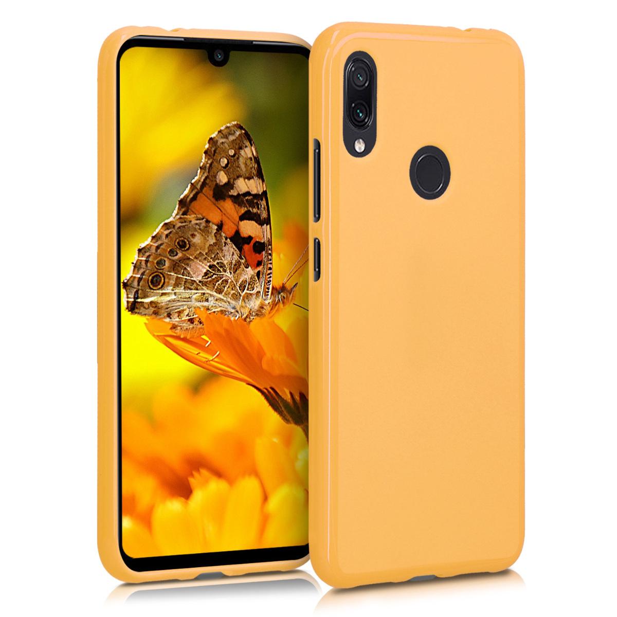 KW Θήκη Σιλικόνης Xiaomi Redmi Note 7 / Note 7 Pro - Honey Yellow (47571.143)