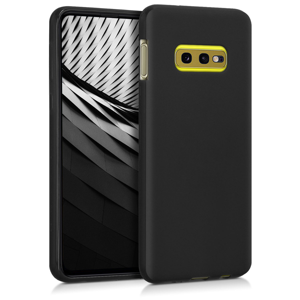 KW Θήκη Σιλικόνης Samsung Galaxy S10e - Soft Flexible Shock Absorbent Protective Phone Cover - Black Matte (47574.47)