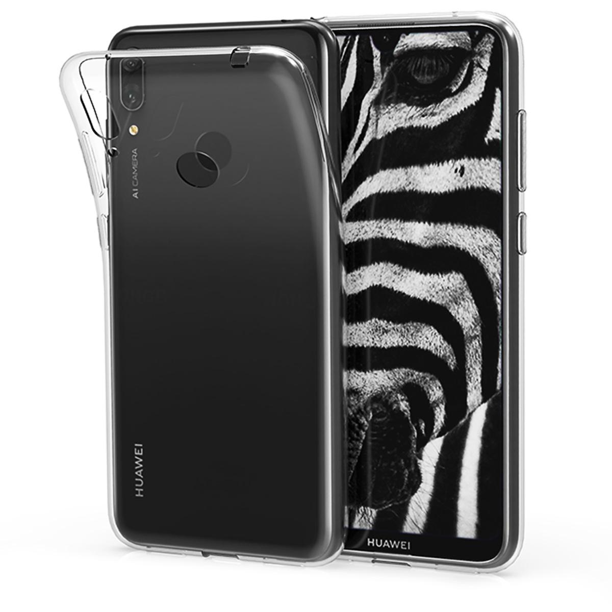 KW Θήκη Σιλικόνης Huawei Y7 (2019) / Y7 Prime (2019) - Soft Flexible TPU - Transparent (47658.03)
