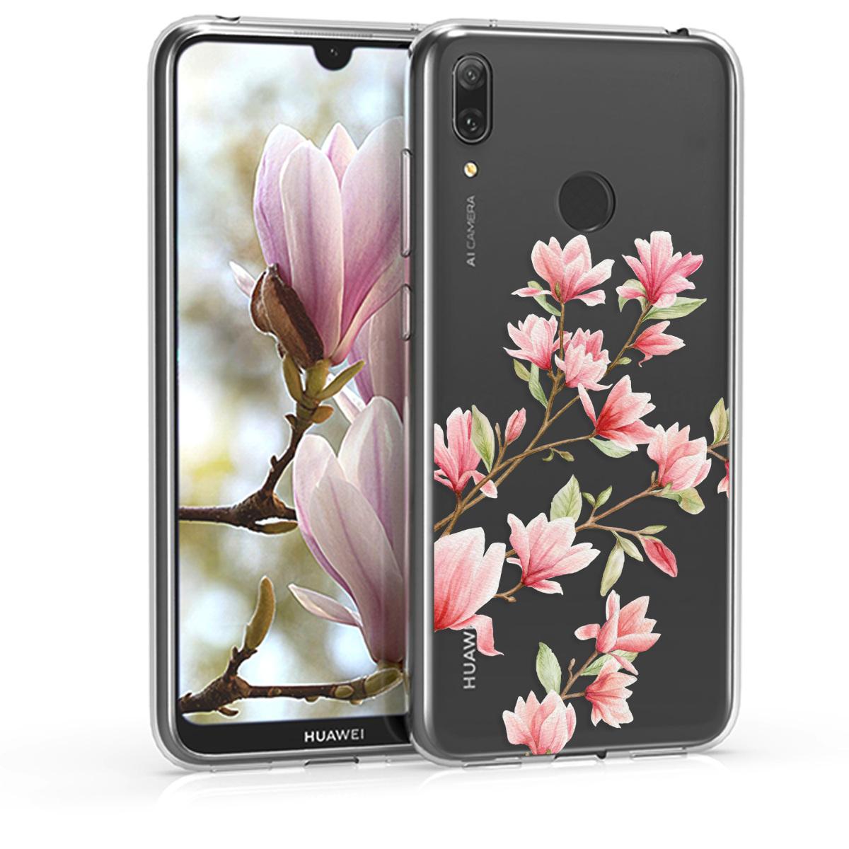 KW Θήκη Σιλικόνης Huawei Y7 (2019) / Y7 Prime (2019) - Light Pink / White / Transparent (47659.02)