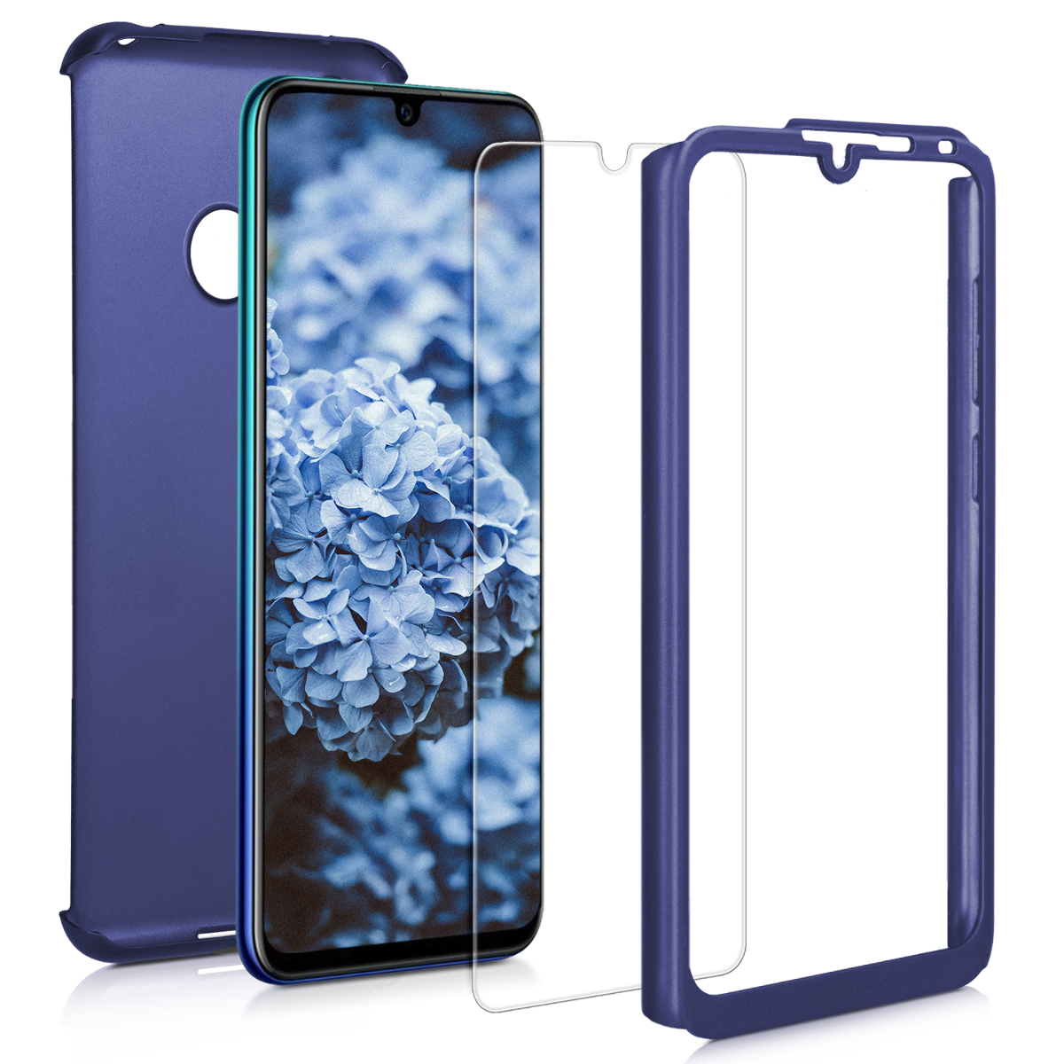 KW Θήκη Full Body Huawei Y7 2019 / Y7 Prime 2019 & Tempered Glass - Metallic Blue (47665.64)
