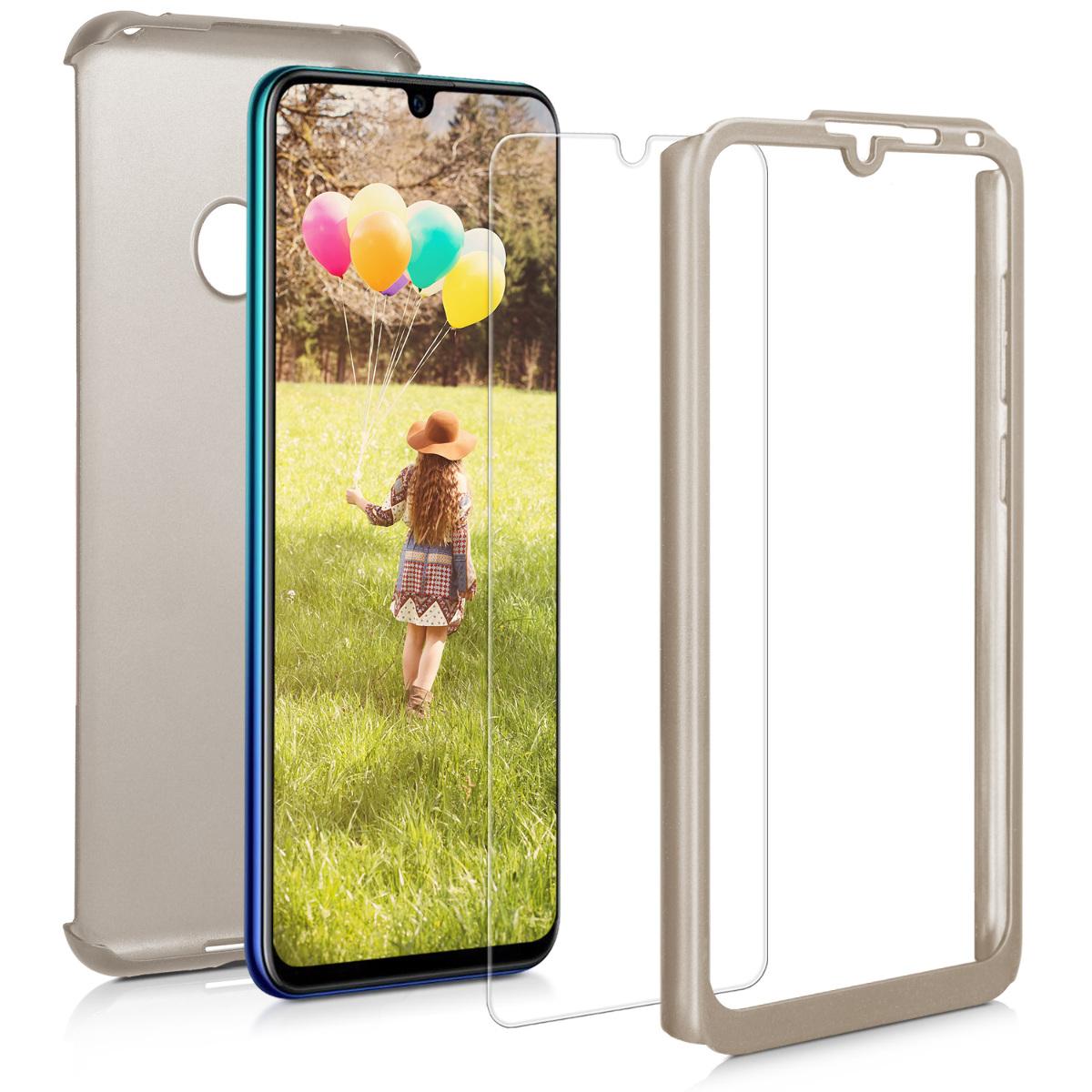 KW Θήκη Full Body Huawei Y7 2019 / Y7 Prime 2019 & Tempered Glass - Metallic Gold (47665.66)