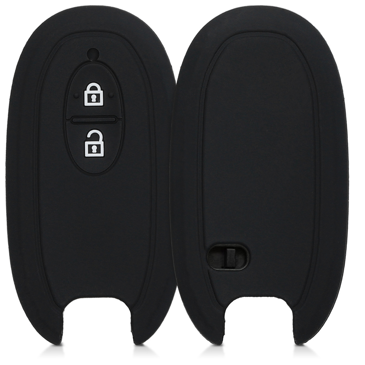 KW Θήκη Κλειδιού Suzuki - Σιλικόνη - 2 Κουμπιά - Black (47670.01)
