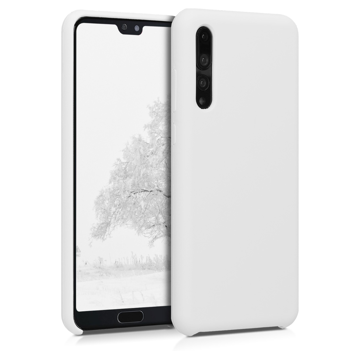 KW Θήκη Σιλικόνης Huawei P20 Pro - Soft Flexible Rubber Protective Cover - White (47706.02)