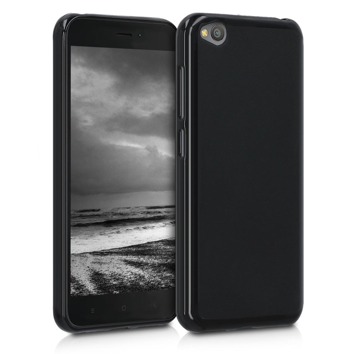 KW Θήκη Σιλικόνης Xiaomi Redmi Go - Black Matte (47712.47)