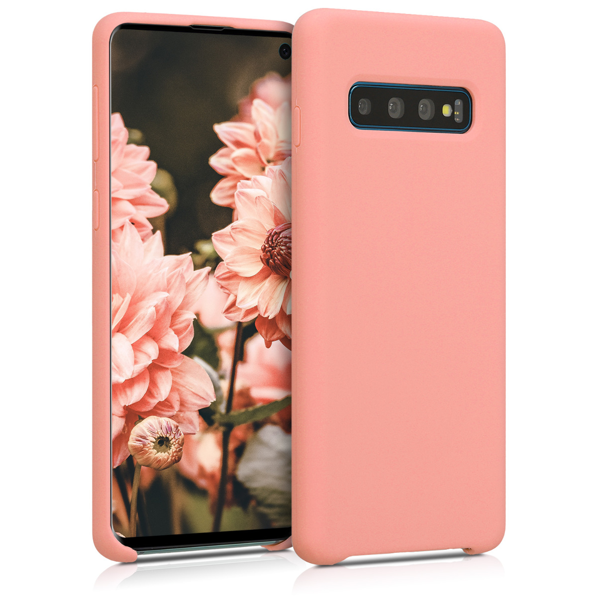 KW Θήκη Σιλικόνης Samsung Galaxy S10 - Soft Flexible Rubber - Coral Matte (47732.56)