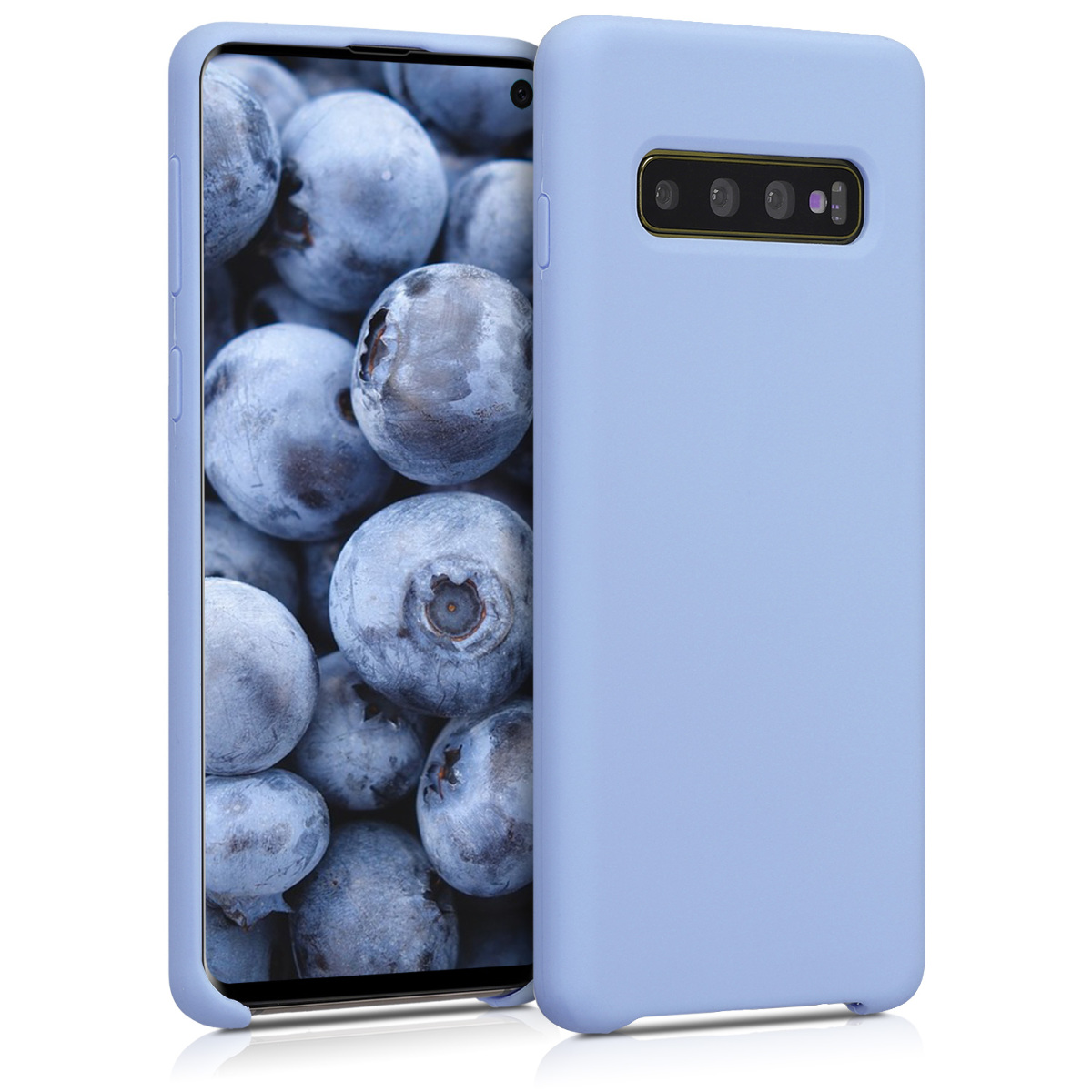 KW Θήκη Σιλικόνης Samsung Galaxy S10 - Soft Flexible Rubber Protective Cover - Light Blue Matte (47732.58)