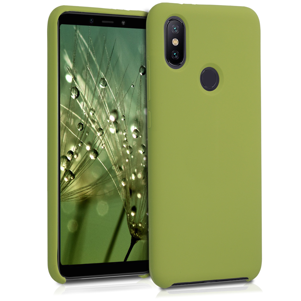 KW Θήκη Σιλικόνης Xiaomi Mi 6X / Mi A2 - Pale Olive Green (47733.148)