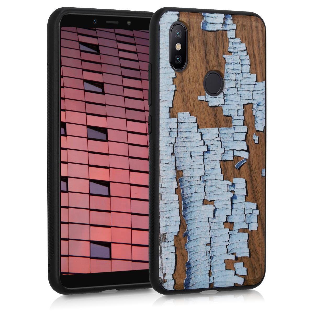 KW Σκληρή Ξύλινη Θήκη Xiaomi Mi 6X / Mi A2 - Watercolor Waves (47748.02)