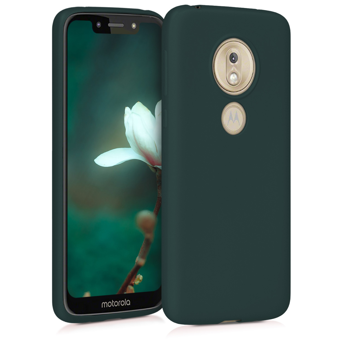 KW Θήκη Σιλικόνης Motorola Moto G7 Play - Metallic Teal (47753.14)