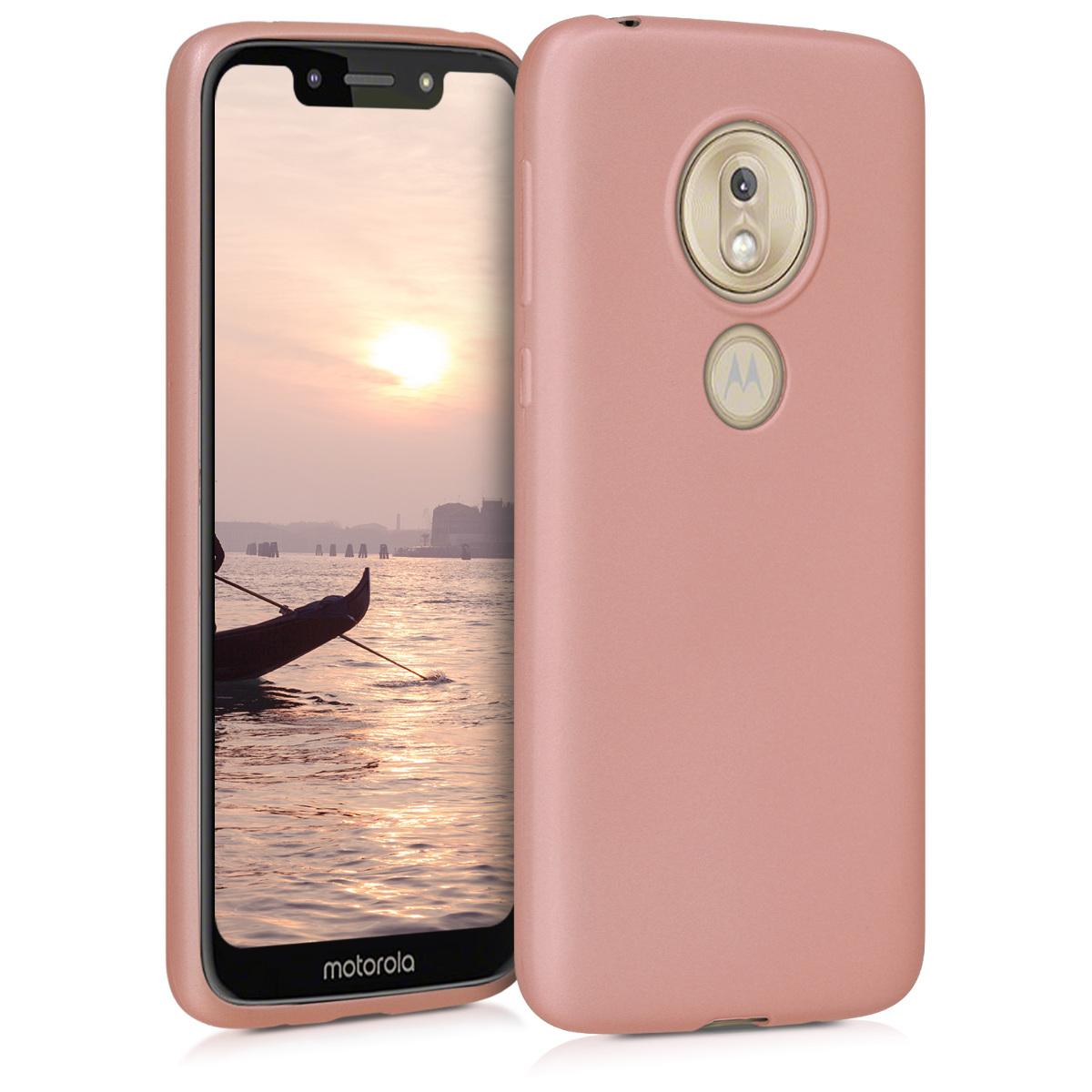 KW Θήκη Σιλικόνης Motorola Moto G7 Play - Metallic Rose Gold (47753.31)