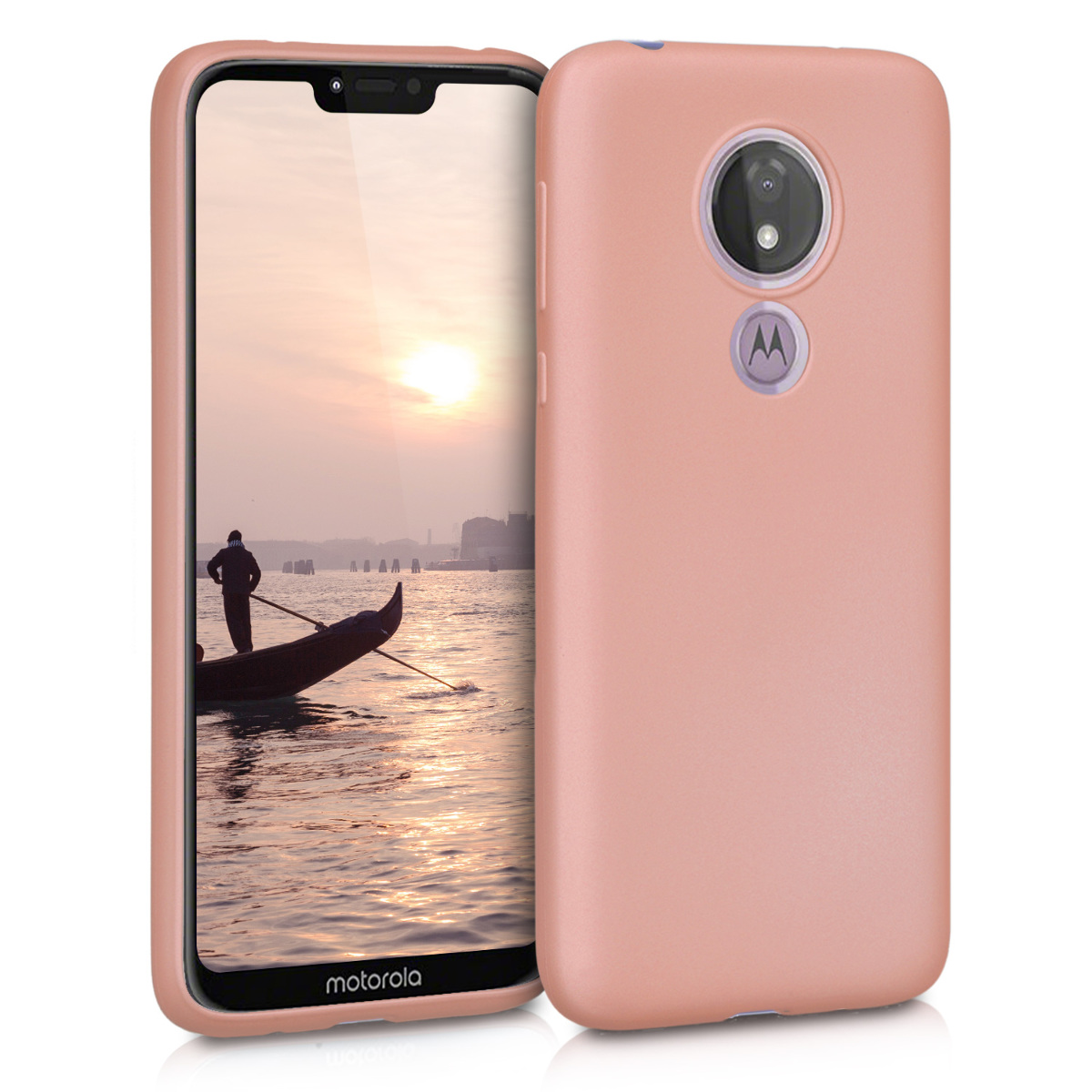 KW Θήκη Σιλικόνης Motorola Moto G7 Power - Metallic Rose Gold (47757.31)