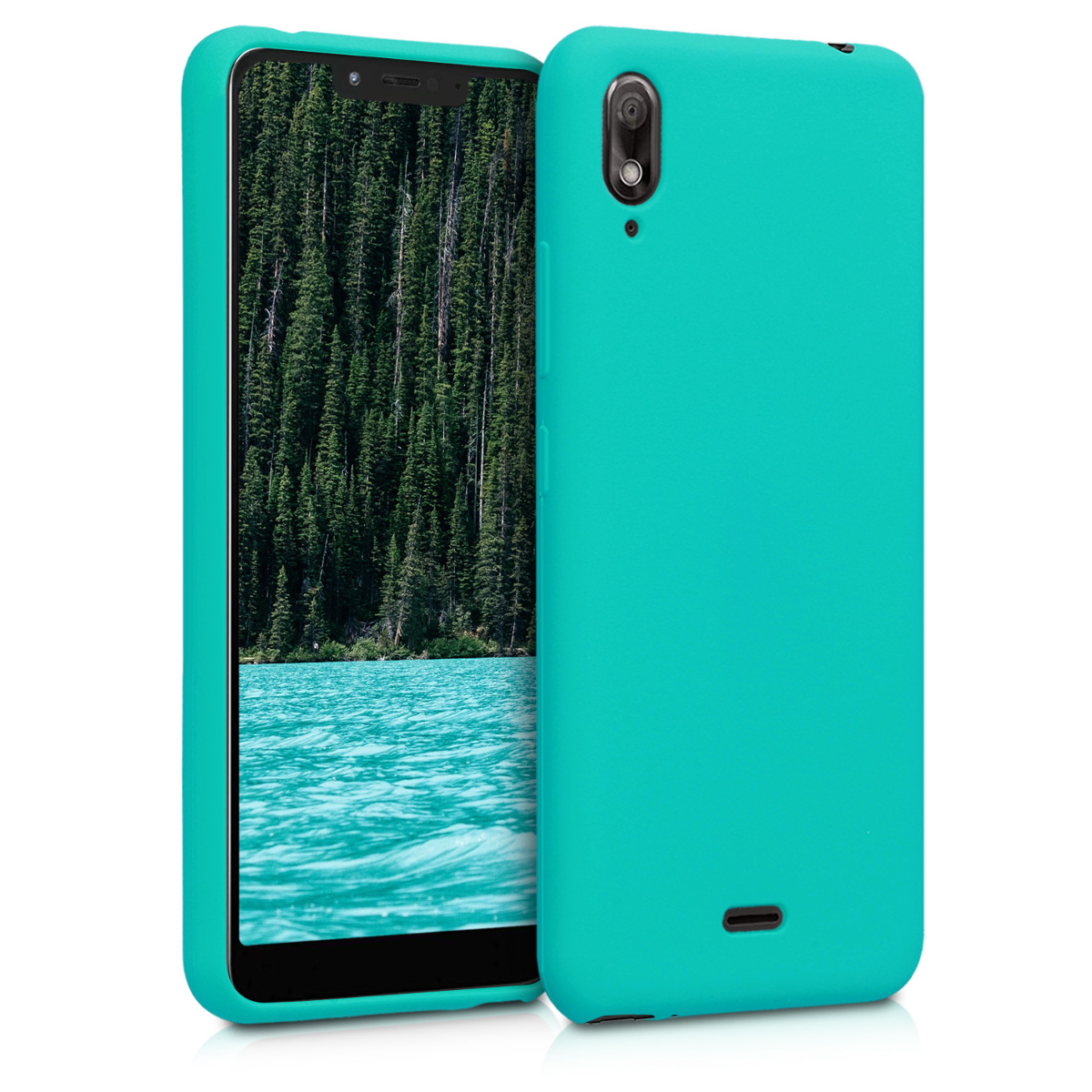 KW Θήκη Σιλικόνης Wiko View 2 Go - Neon Turquoise (47774.126)