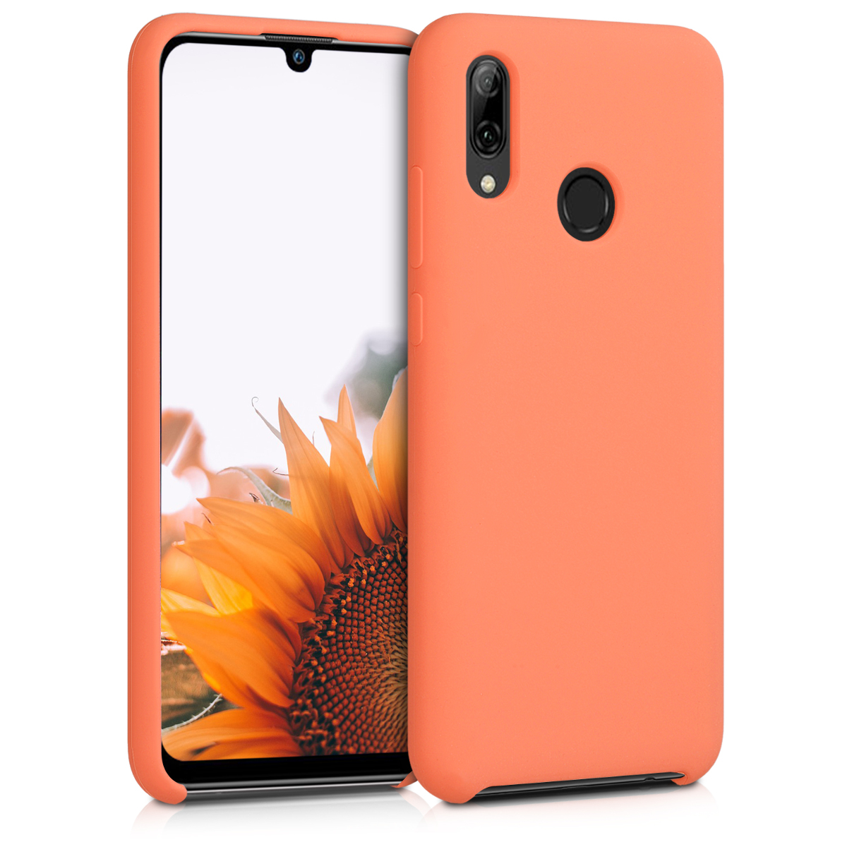 KW Θήκη Σιλικόνης Huawei P Smart 2019 - Soft Flexible Rubber - Papaya (47824.144)