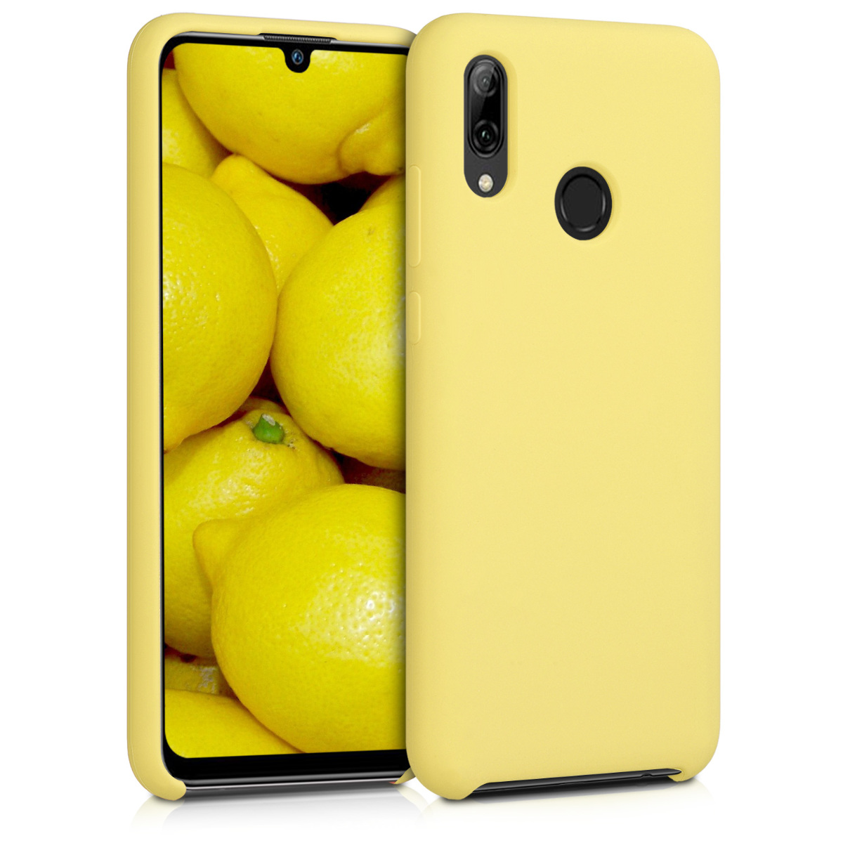 KW Θήκη Σιλικόνης Huawei P Smart 2019 - Soft Flexible Rubber - Yellow Matte (47824.49)