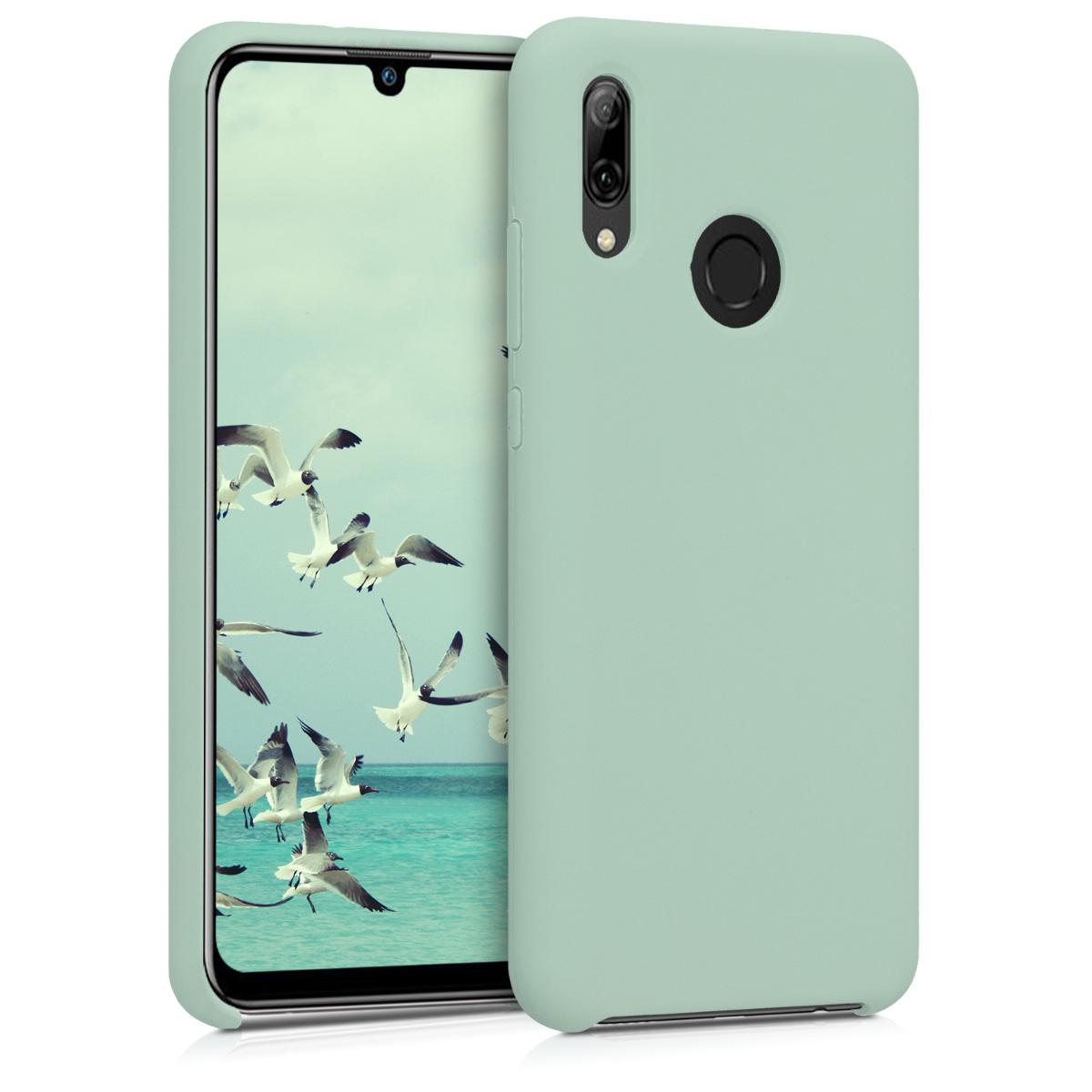 KW Θήκη Σιλικόνης Huawei P Smart (2019) - Soft Flexible Rubber  - Mint Matte (47824.50)