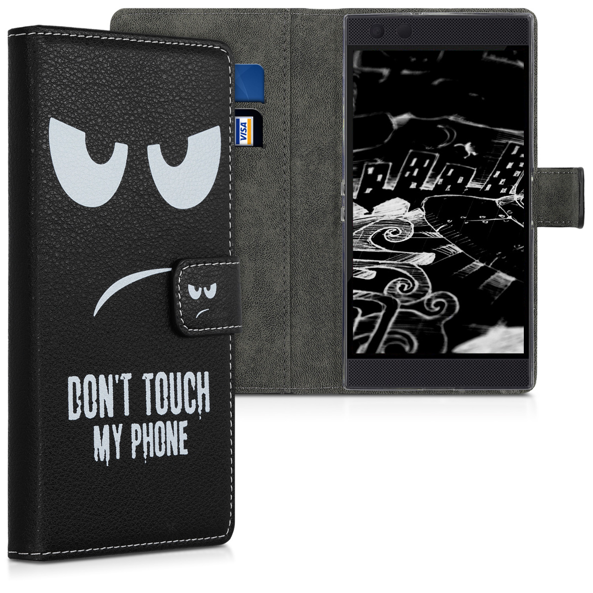 KW Θήκη Πορτοφόλι Razer Phone 2 -  White / Black (47827.01)