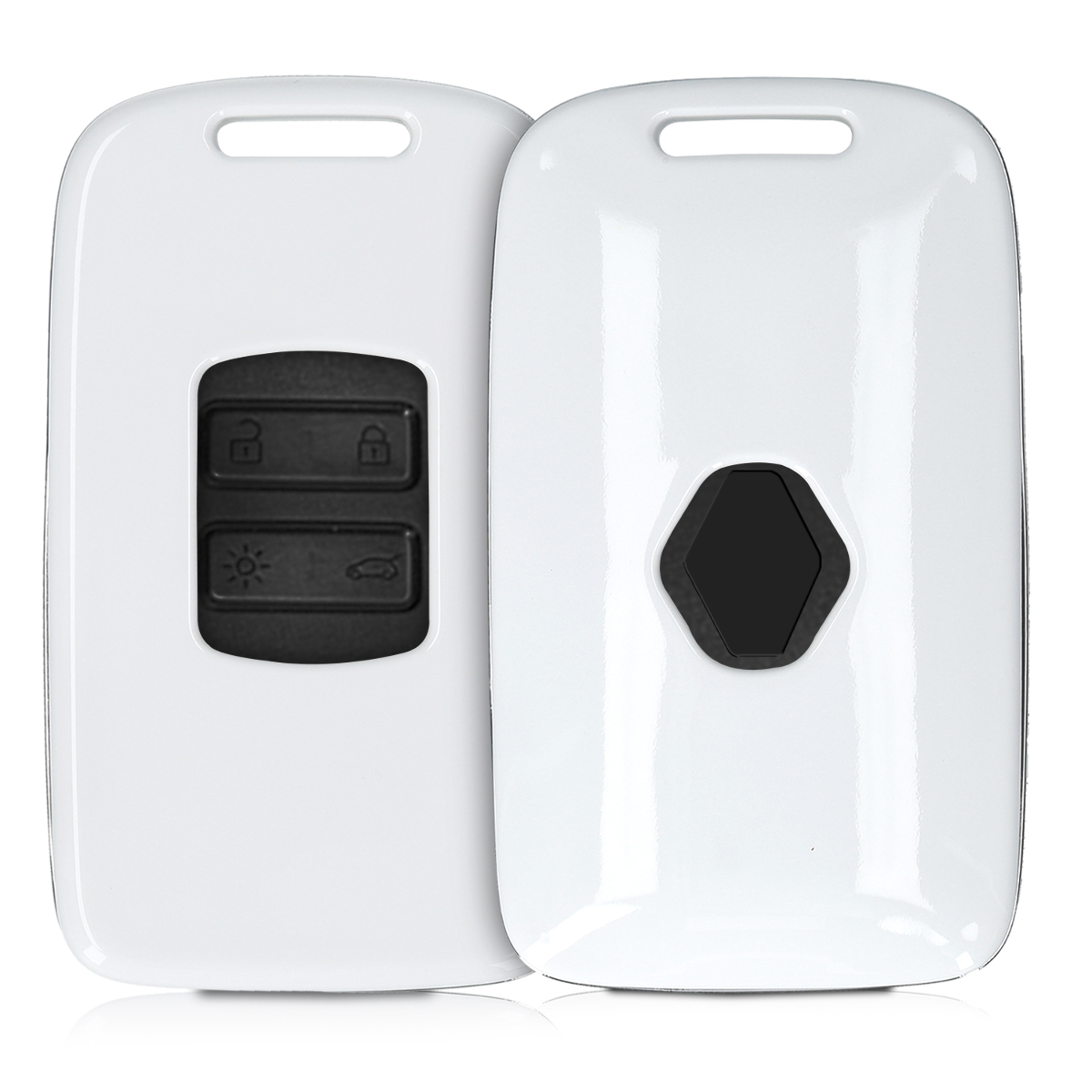 KW Σκληρή Θήκη Κλειδιού Renault - 4 Κουμπιά (Keyless Go) - White (47858.02)