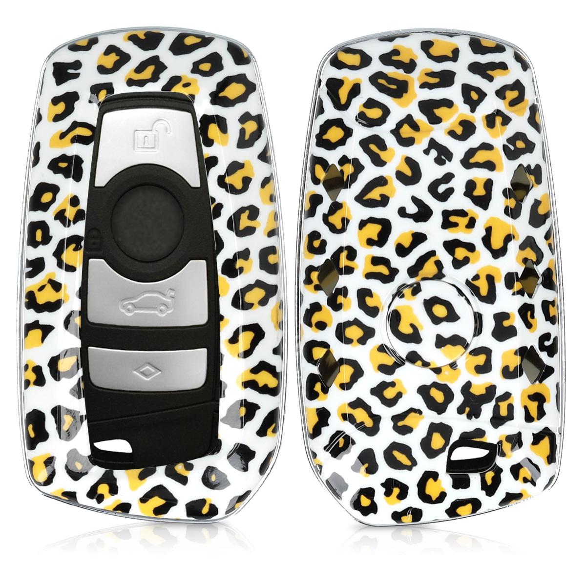 KW Σκληρή Θήκη Κλειδιού BMW - 3 Κουμπιά - Keyless Go - Black / Yellow / White (47859.03)