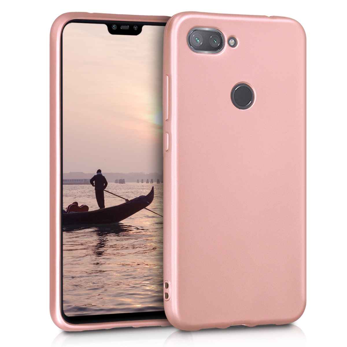 KW Θήκη Σιλικόνης Xiaomi Mi 8 Lite - Metallic Rose Gold (47930.31)