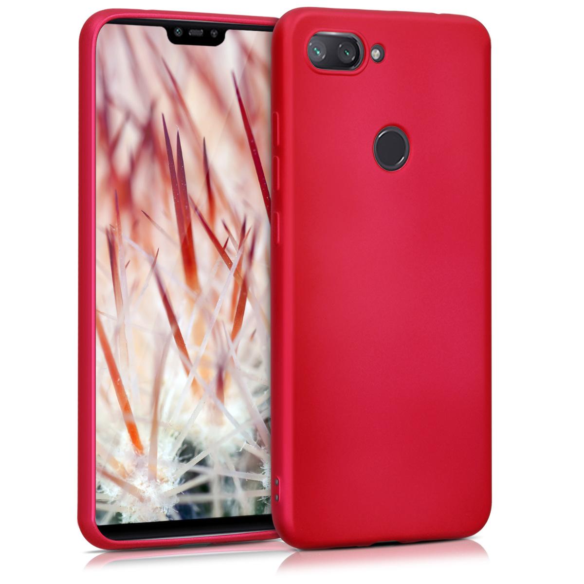 KW Θήκη Σιλικόνης Xiaomi Mi 8 Lite - Metallic Pink (47930.65)