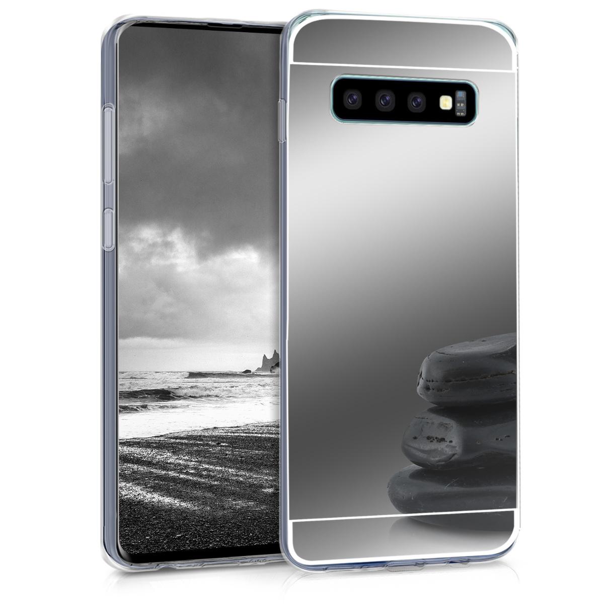 KW Θήκη Σιλικόνης (TPU) με Καθρέφτη Samsung Galaxy S10 - Silver Reflective (47931.42)