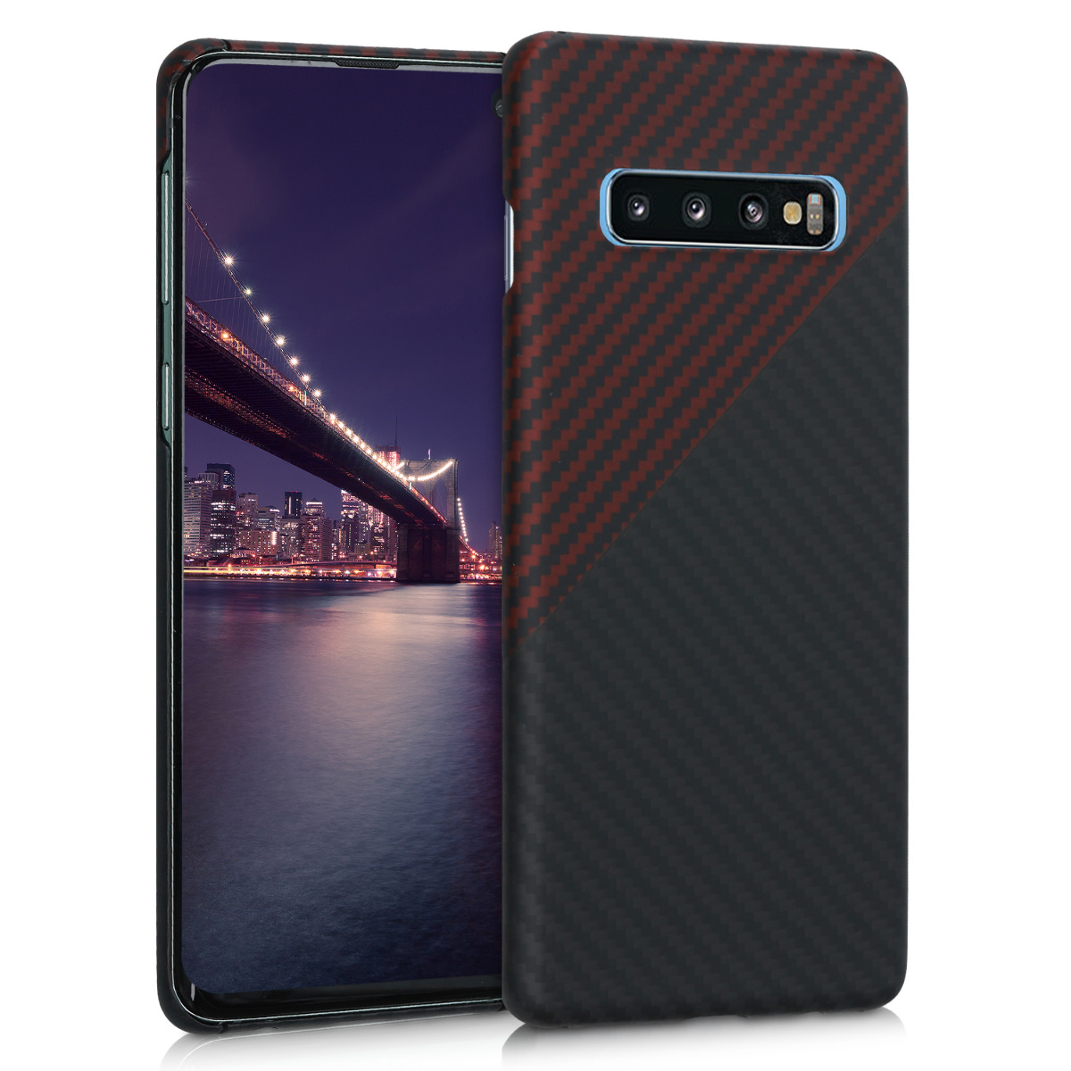 Kalibri Aramid Fiber Body - Σκληρή Θήκη Samsung Galaxy S10 - Red Matte / Black Matte (47932.51)