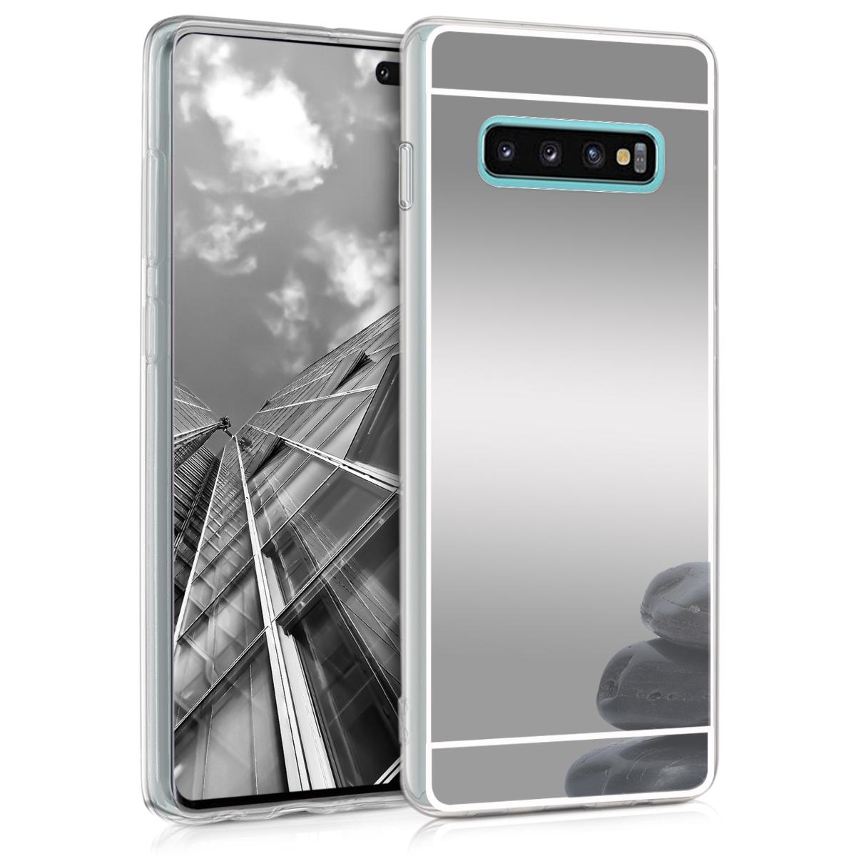 KW Θήκη Σιλικόνης (TPU) με Καθρέφτη Samsung Galaxy S10 Plus - Silver Reflective (47938.42)