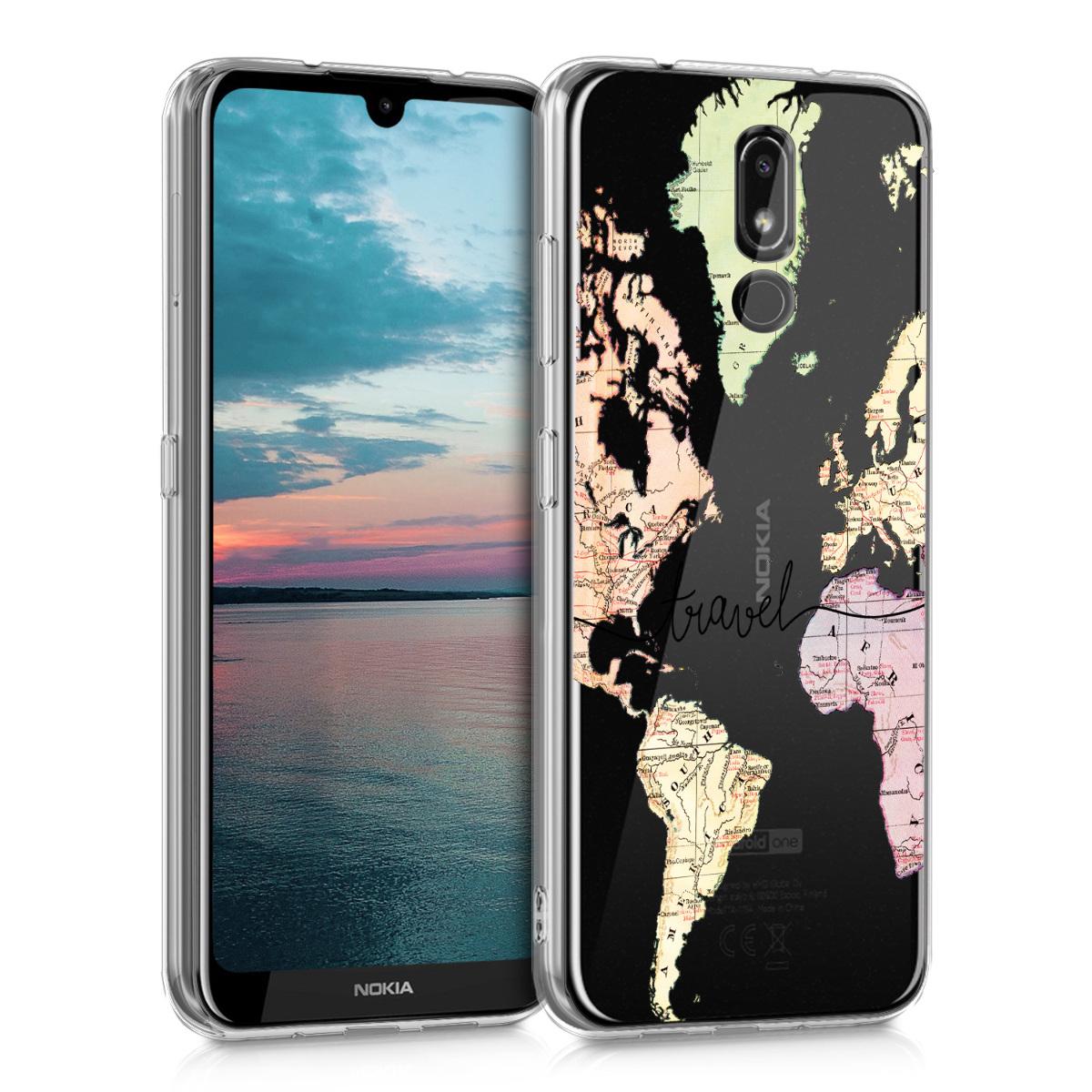 KW Θήκη Σιλικόνης Nokia 3.2 - Crystal Clear - Black / Multicolor / Transparent (48015.05)