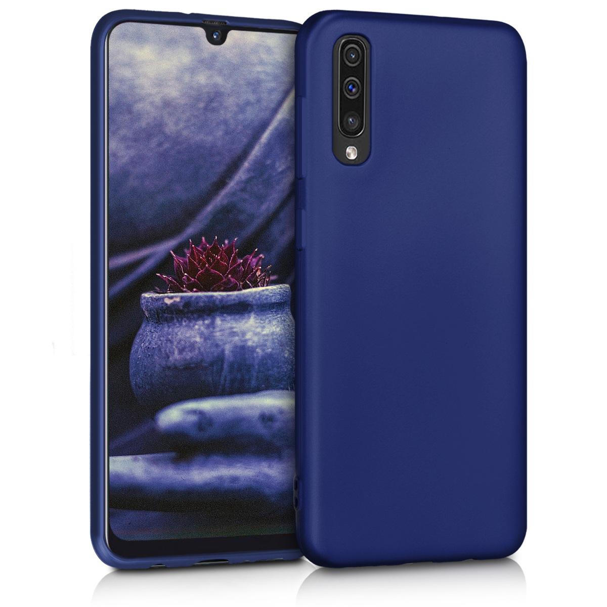 KW Θήκη Σιλικόνης Samsung Galaxy A50 - Metallic Blue (48056.64)