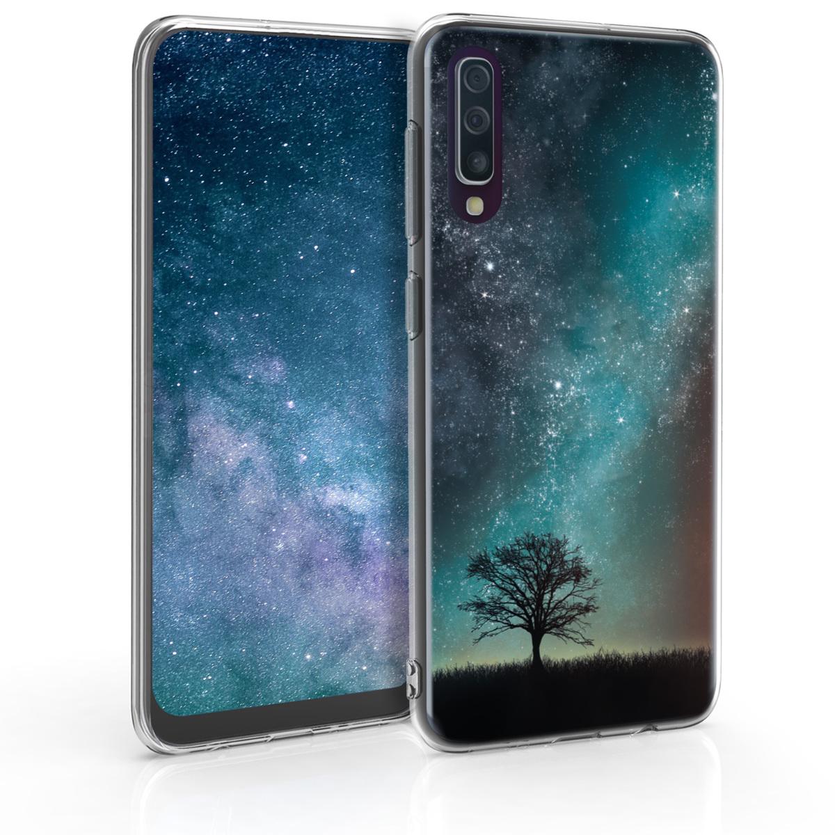 KW Θήκη Σιλικόνης Samsung Galaxy A50 - Blue / Grey / Black (48061.04)